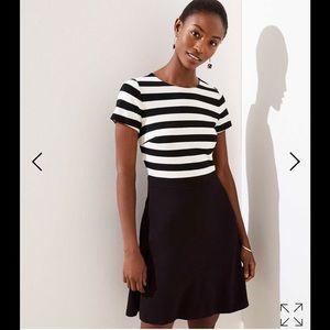 New Loft Striped Top pocket flare dress